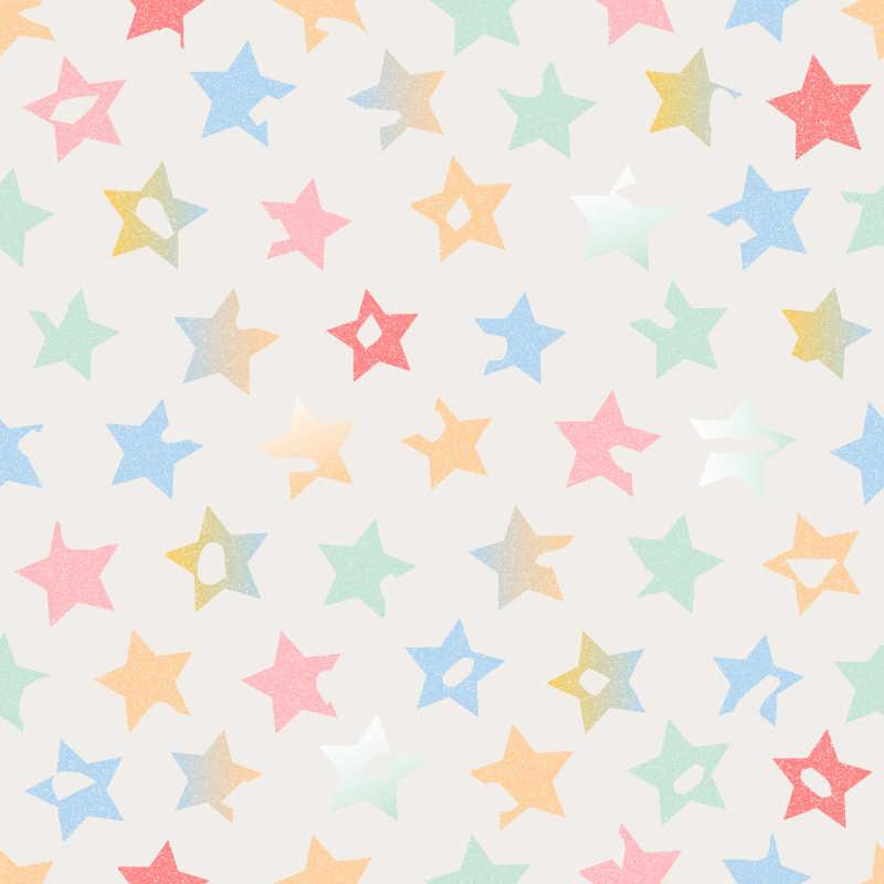 含有五角星的白色可爱背景