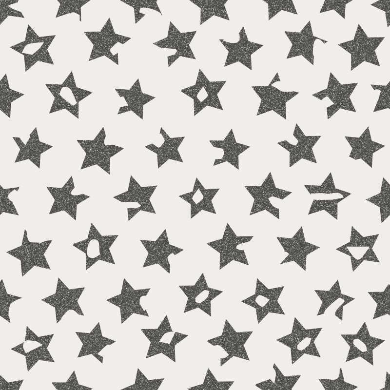 黑色五星白底纹理背景