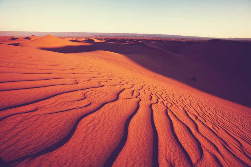 沙漠砂纹的自然景观