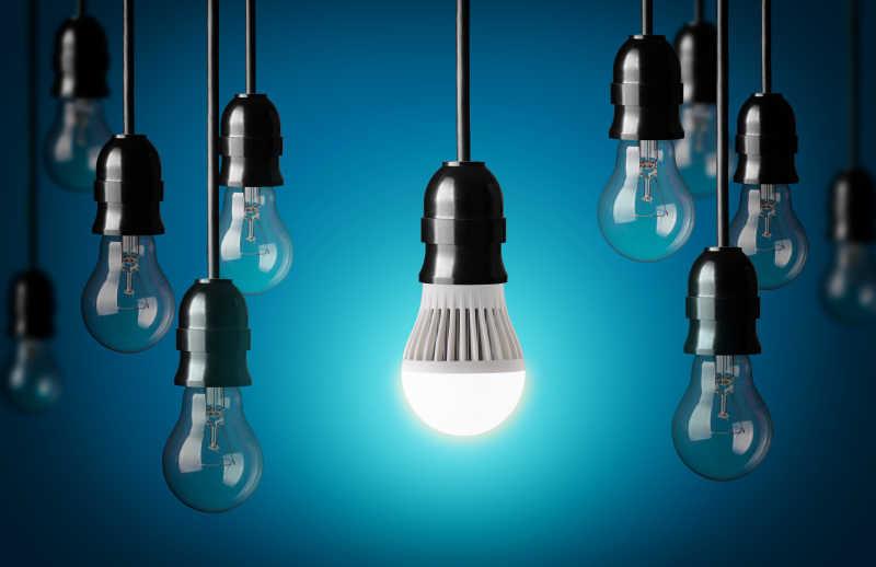 led灯泡和简单的灯泡