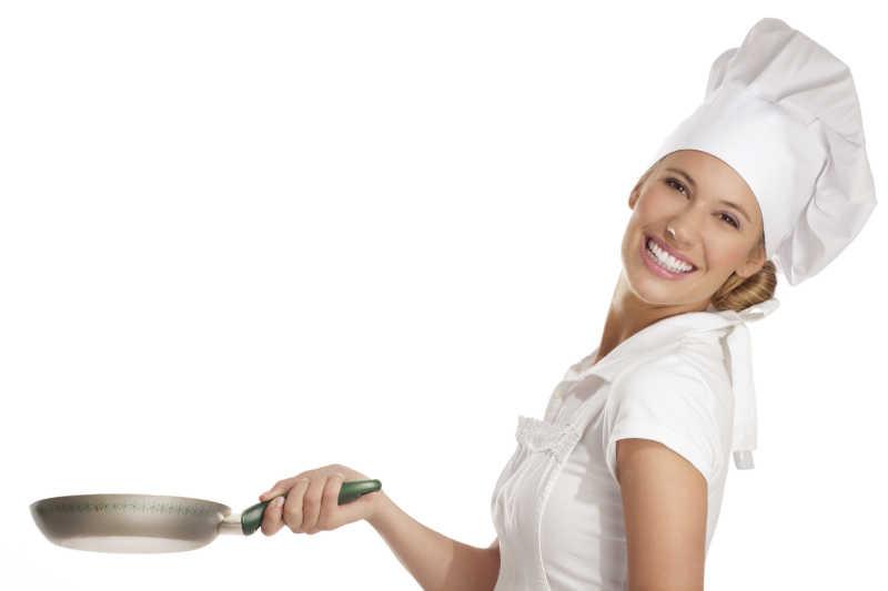 黑色厨师前手端空美女的女视频打出OK盘子图背景绳子手语图片