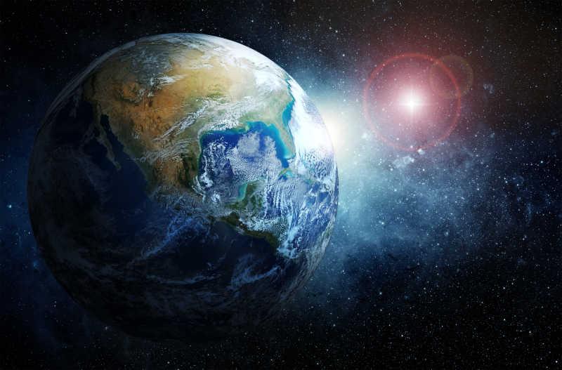 浩瀚宇宙中的地球与星辰