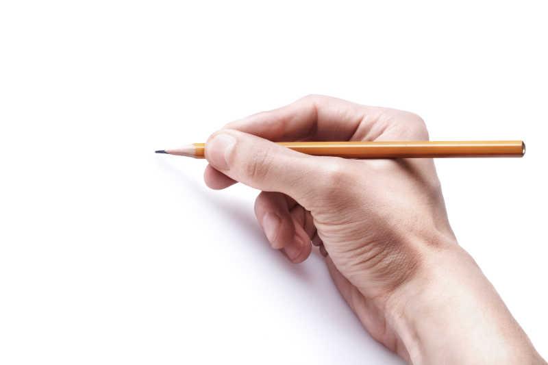 铅笔图片 手握铅笔特写素材 高清图片 摄影照片 寻图免费打包下载