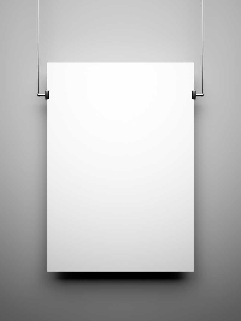 空白相框图片素材_灰色墙壁上的空白相框照片_jpg格式