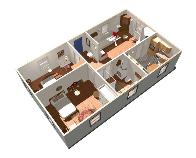 三维室内装修设计