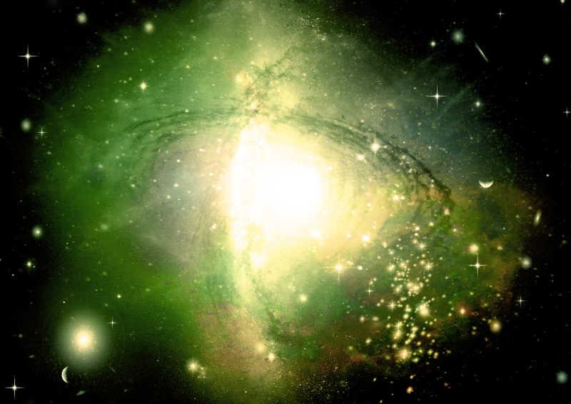 黄色旋涡星系