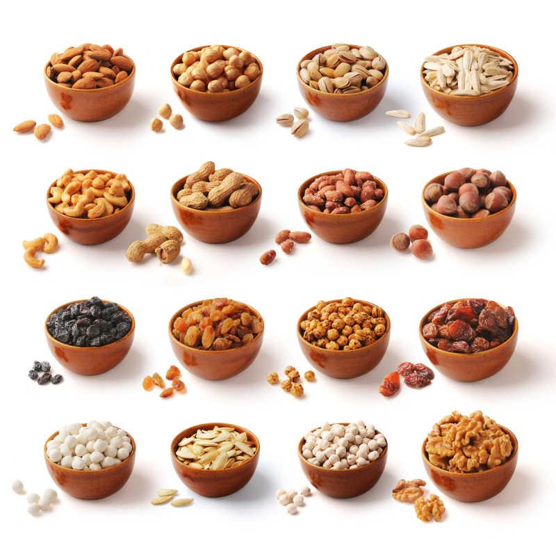 什锦坚果图片素材_十二种不同的坚果照片_jpg格式