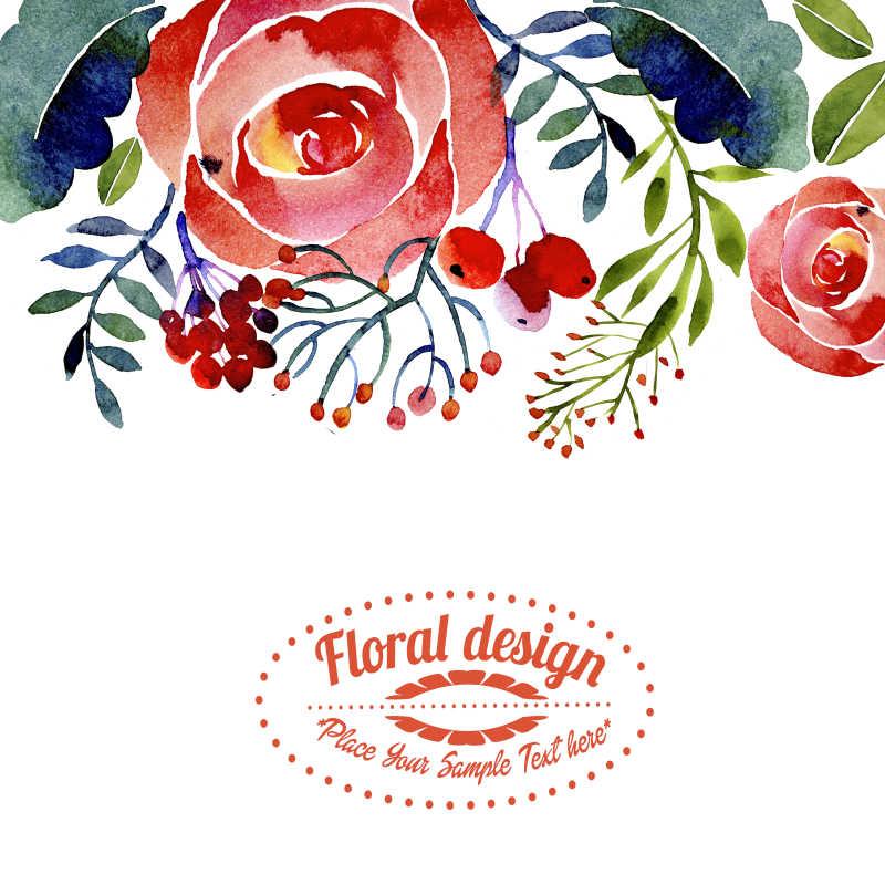 创意矢量简易花朵装饰边框