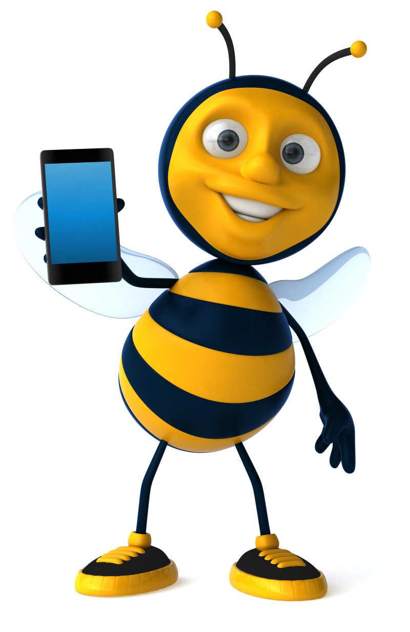 矢量卡通蜜蜂图片素材_创意矢量抱着蜂蜜心的蜜蜂插画