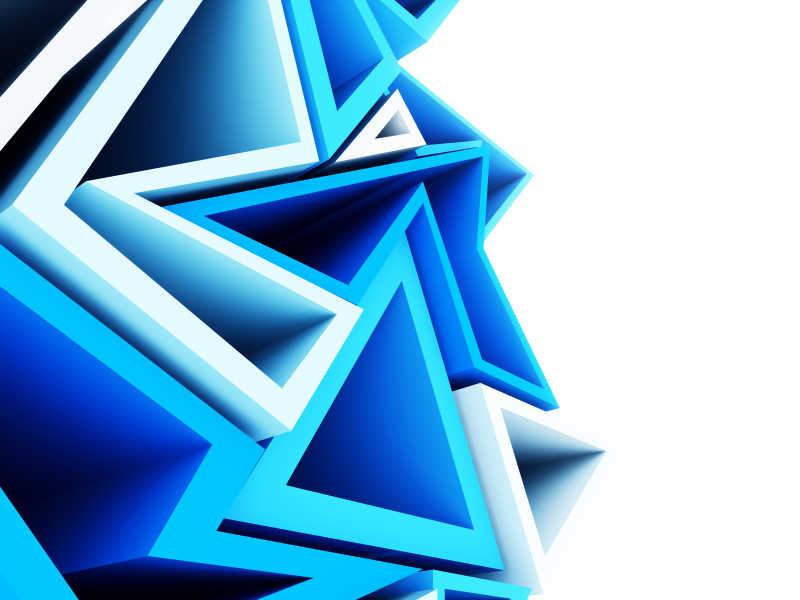 蓝白相间的几何元素背景