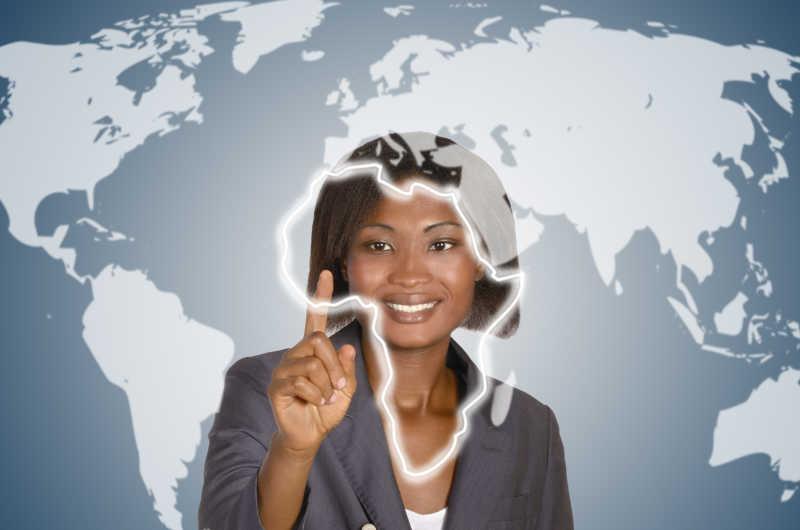 微笑的商业非洲女性
