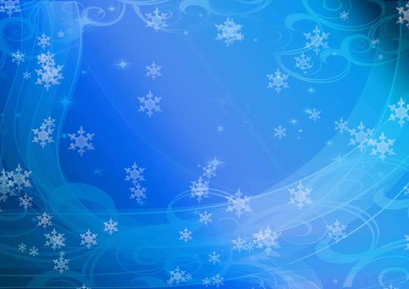 金色雪花背景图片素材_冬天闪闪发光的金色雪花背景