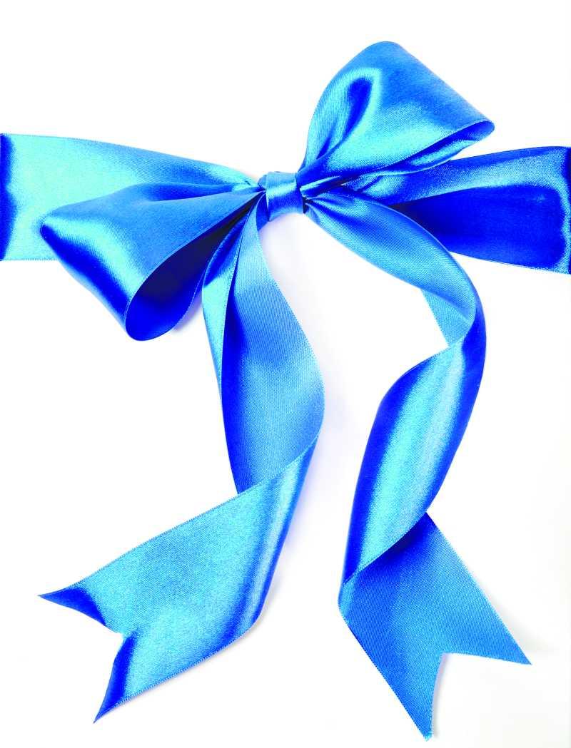 蓝色的蝴蝶结装饰品