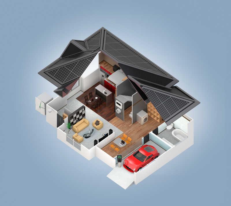 现代房屋设计模型