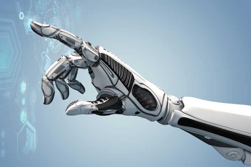 机器人用手点击虚拟屏幕