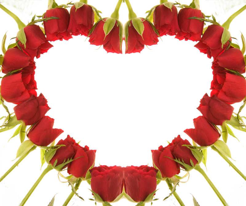 美丽的情人节背景图片素材_木桌上美丽的红玫瑰和红色