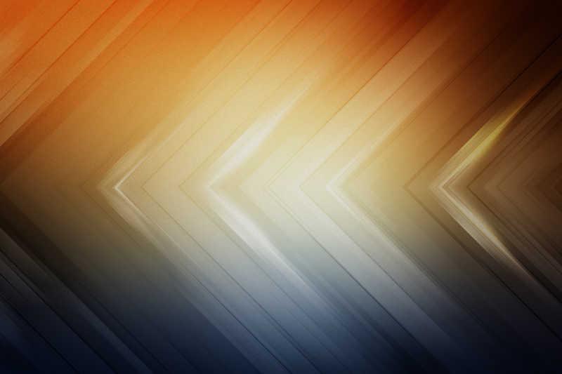 橙色和蓝色渐变的箭头背景