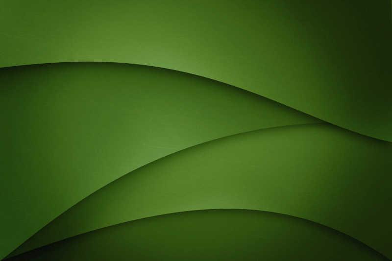 绿色平滑曲线渐变背景