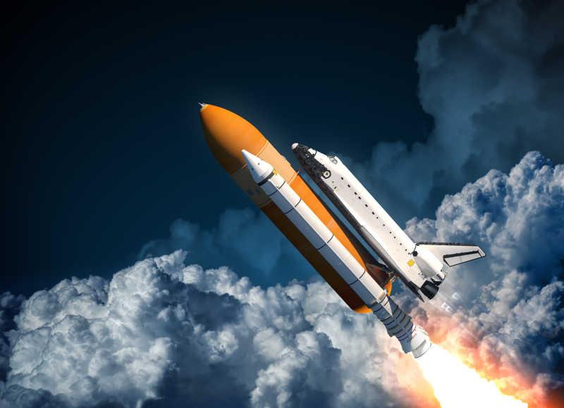金属航天飞机发射