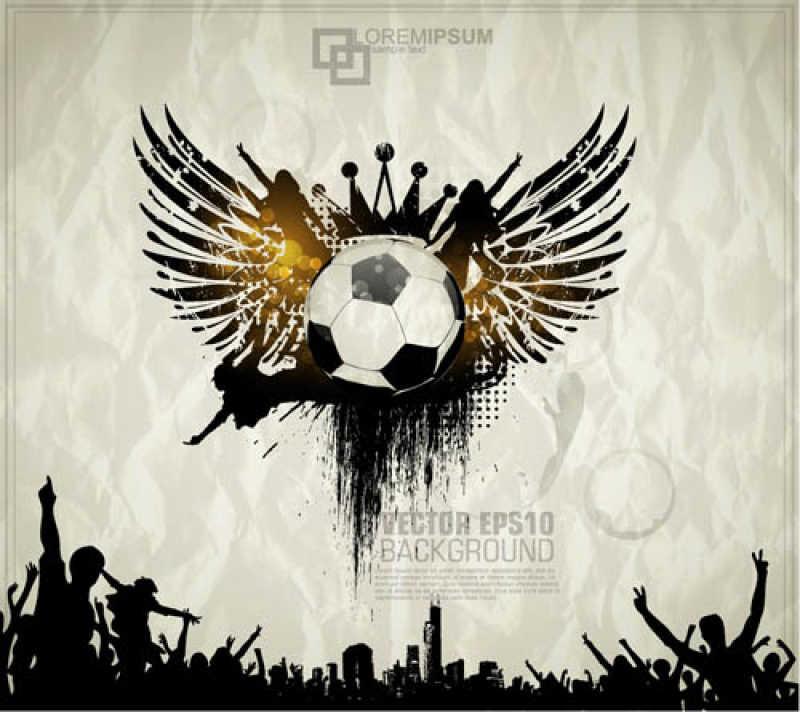 足球概念创意矢量商标