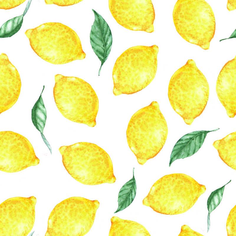 手绘柠檬背景