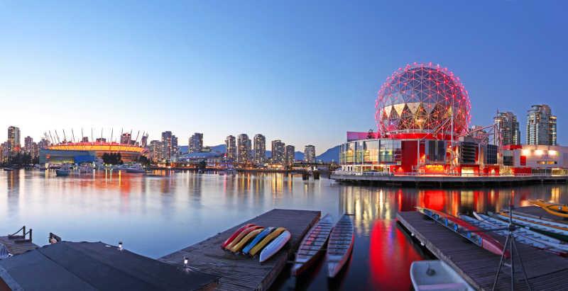 美丽的加拿大温哥华风景