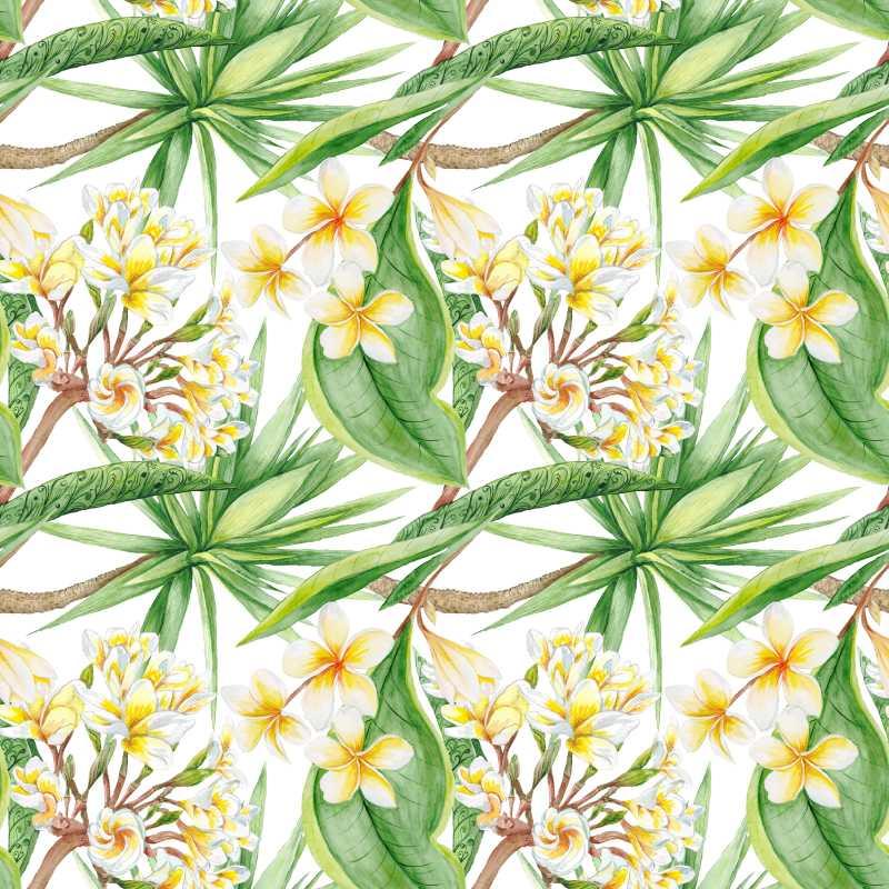手绘植物框架图案