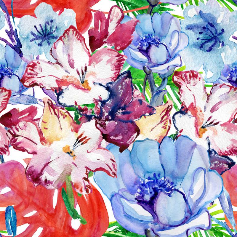 抽象的水彩花卉背景