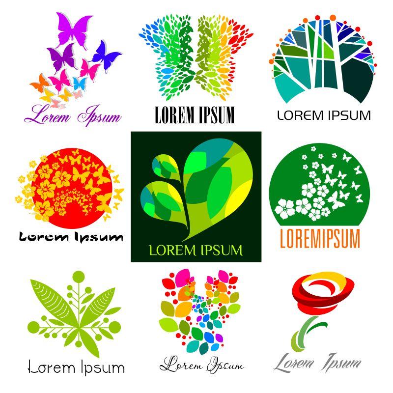矢量生态背景图片素材_矢量绿叶环绕的生态风格的背景