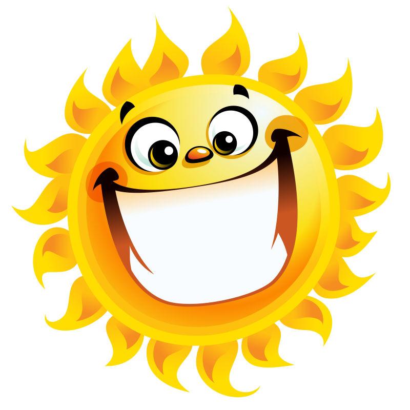 矢量不同表情的卡通太阳