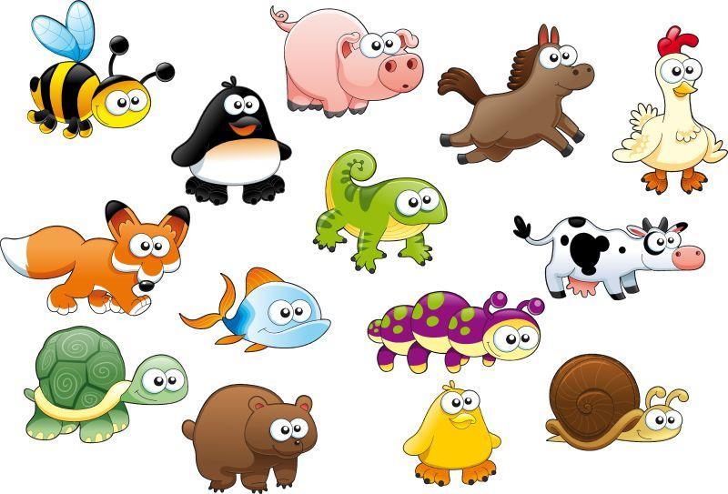 趣味创意矢量卡通动物图标