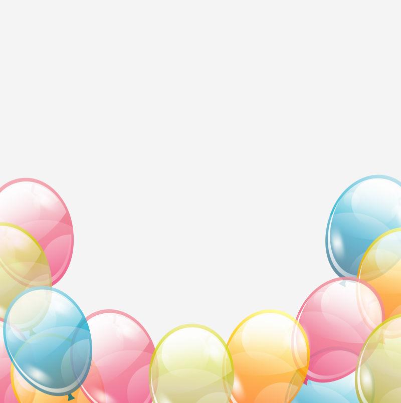 矢量的生日气球插图设计图片素材_卡通风格的庆祝插图