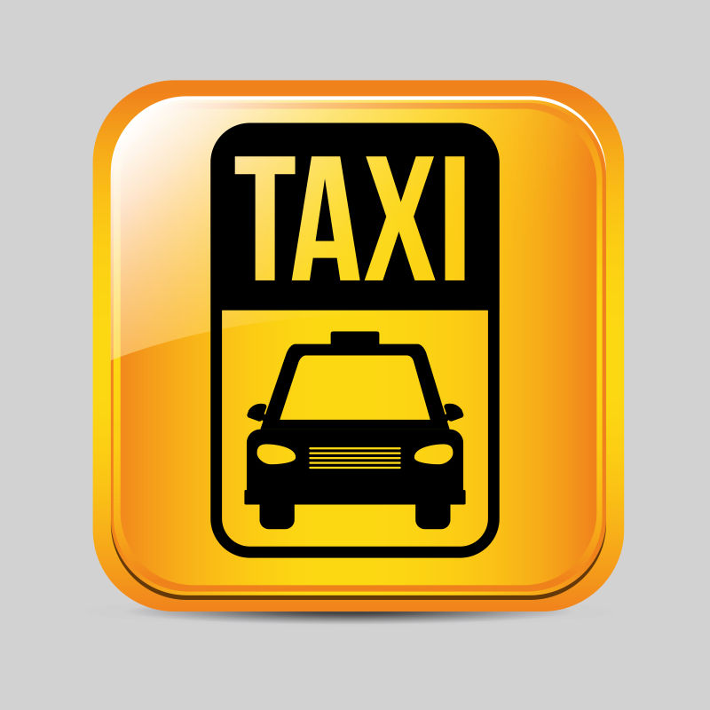 矢量的出租车服务图标设计图片素材_出租车服务矢量