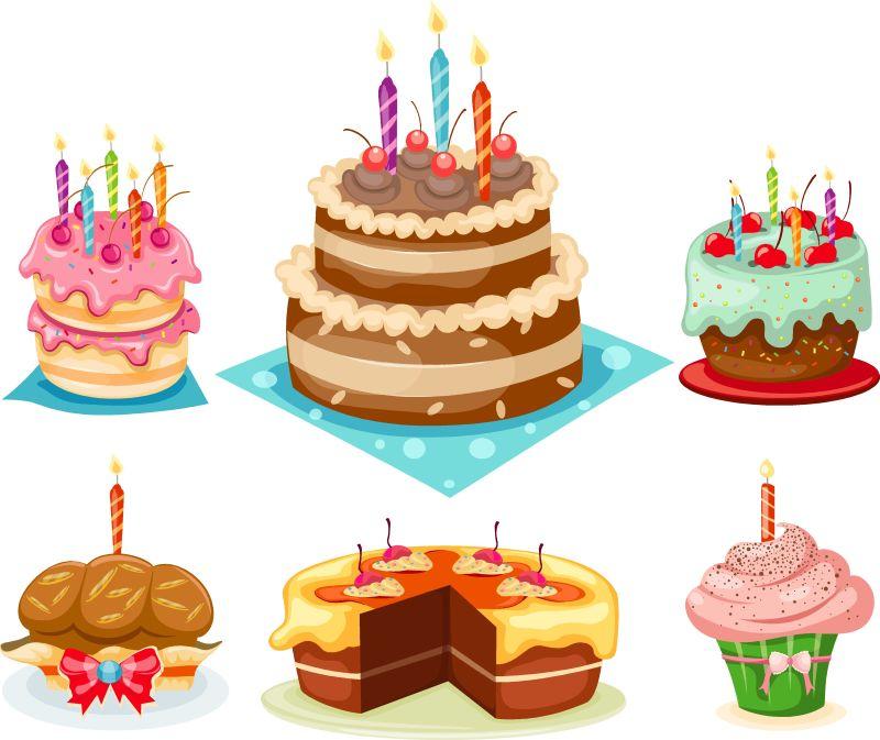 卡通版生日蛋糕_卡通的生日蛋糕矢量设计图片_矢量的卡通生日蛋糕素材_高清图片 ...
