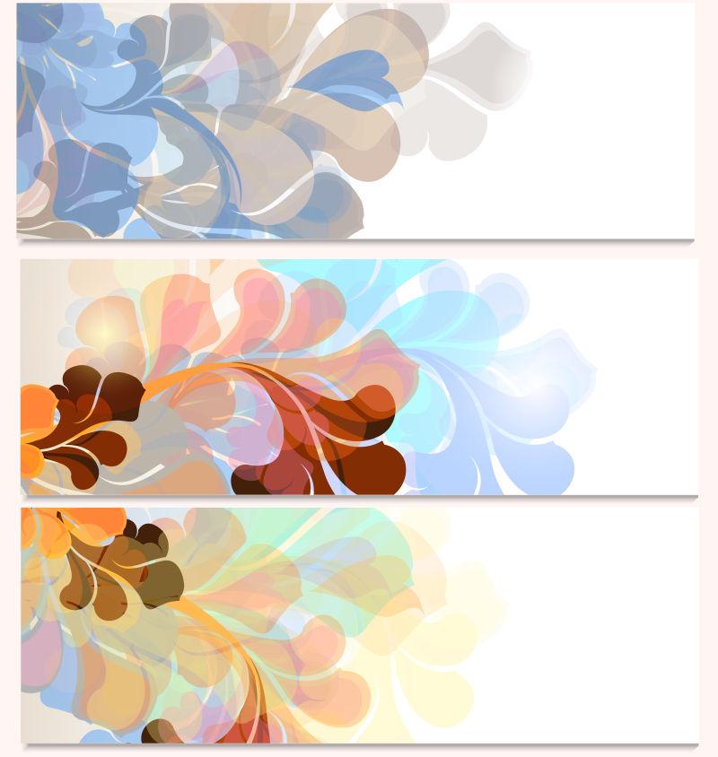 创意花卉图案的矢量卡片插图