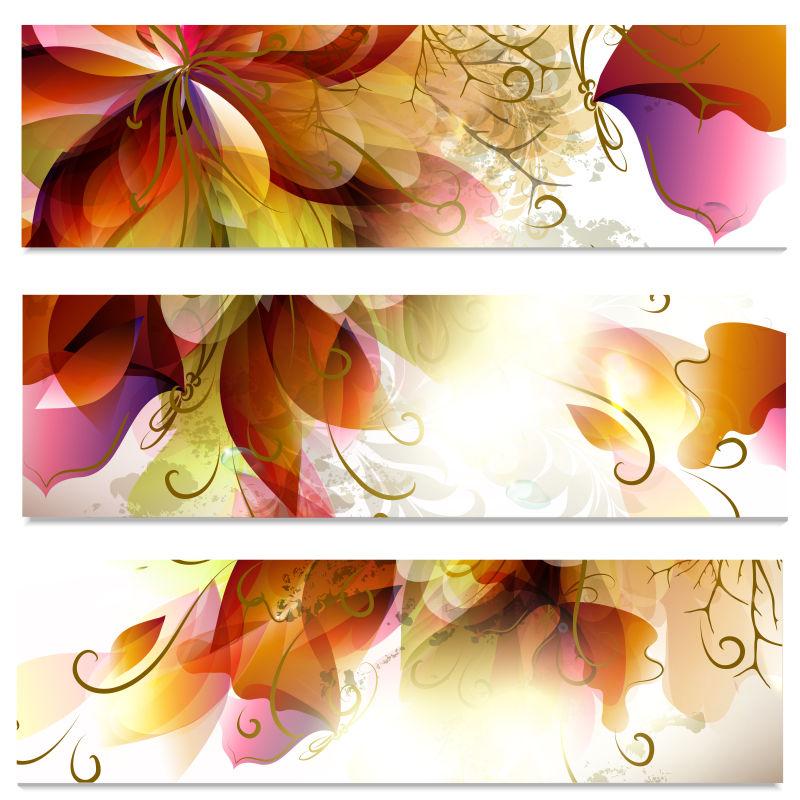 矢量花卉图案插图