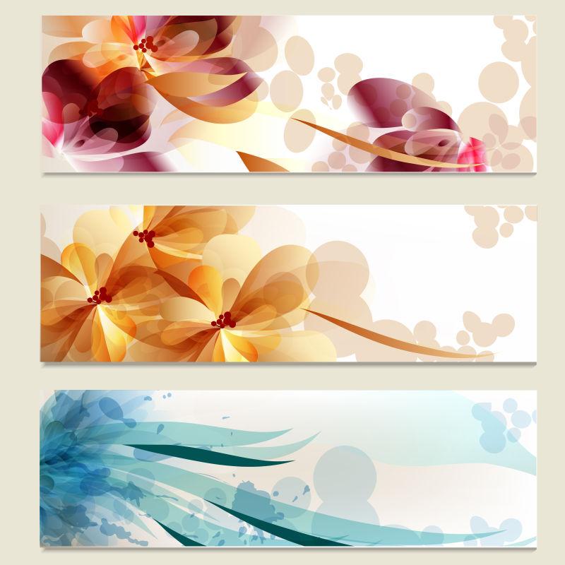 矢量的彩色花卉图案的卡片设计