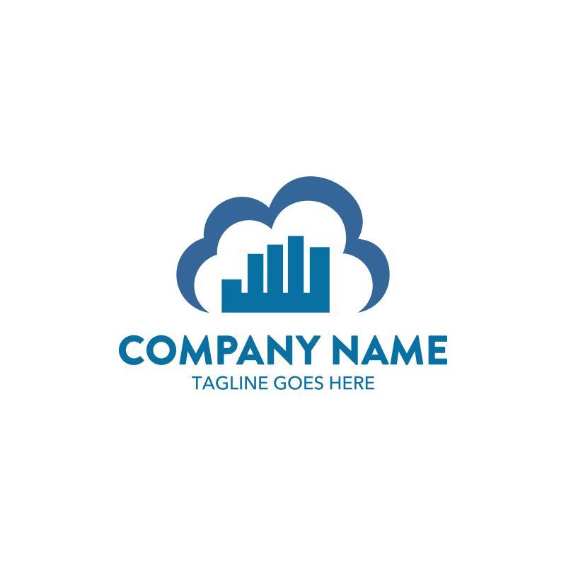 云型的矢量金融公司标志设计