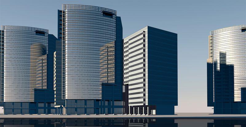 城市的高楼大厦