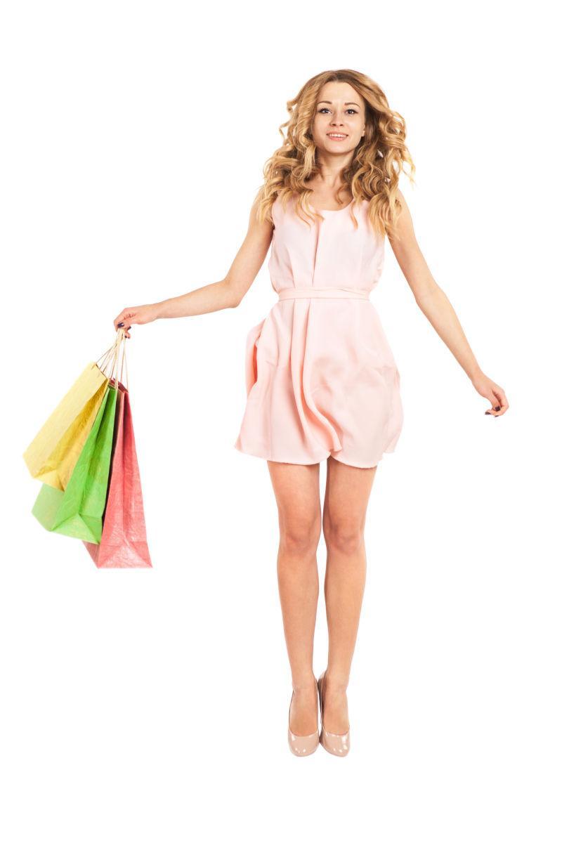 购物美女图片素材_购物广场上的购物美女照片_jpg格式