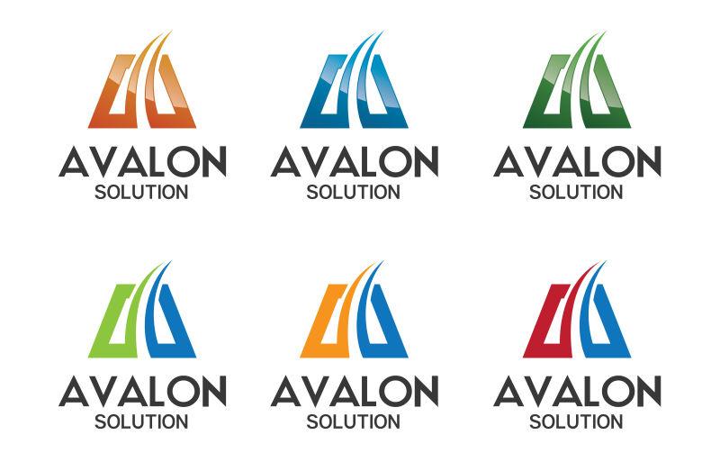 创意矢量商务公司简洁的字母标志设计