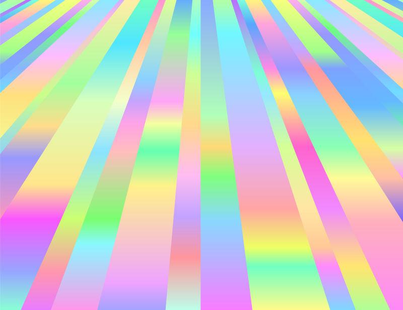 彩色条纹渐变图案矢量设计