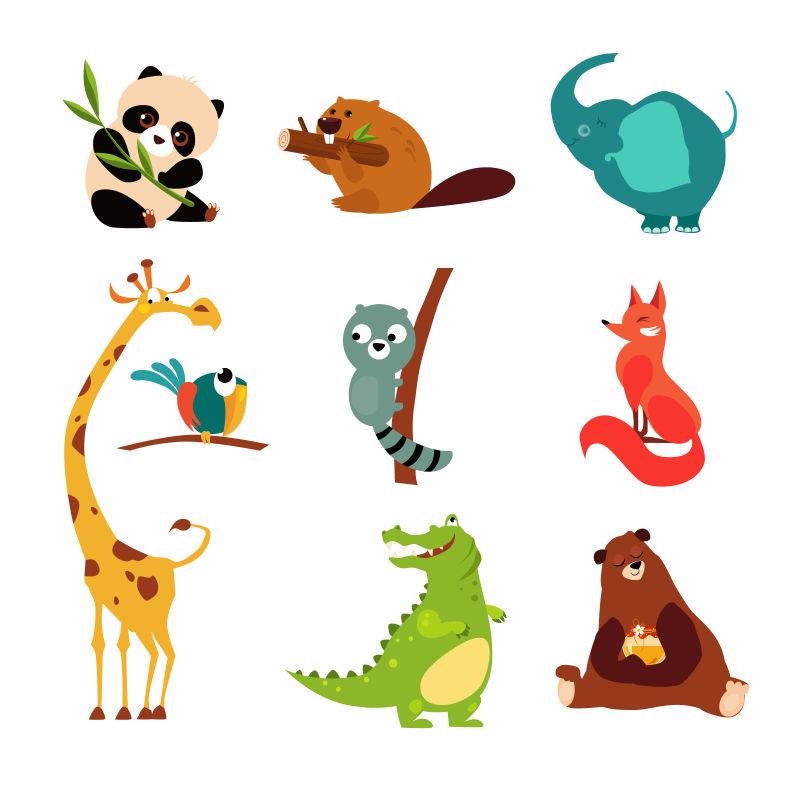 创意矢量各种卡通动物