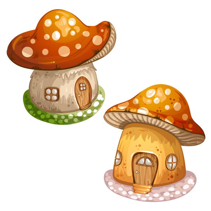 卡通蘑菇矢量图_矢量卡通蘑菇屋图片-创意矢量可爱的卡通蘑菇屋插图素材-高清 ...
