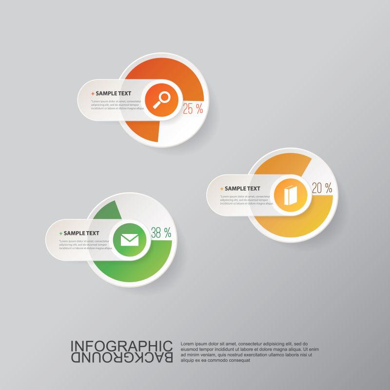 矢量的圆环图案信息表设计
