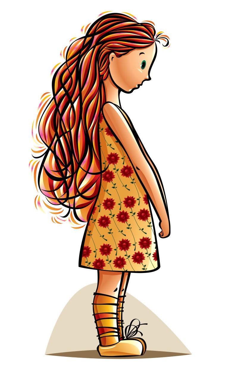 矢量卡通女孩图片_矢量卡通可爱的小女孩素材_高清图片_摄影照片_寻图免费打包下载