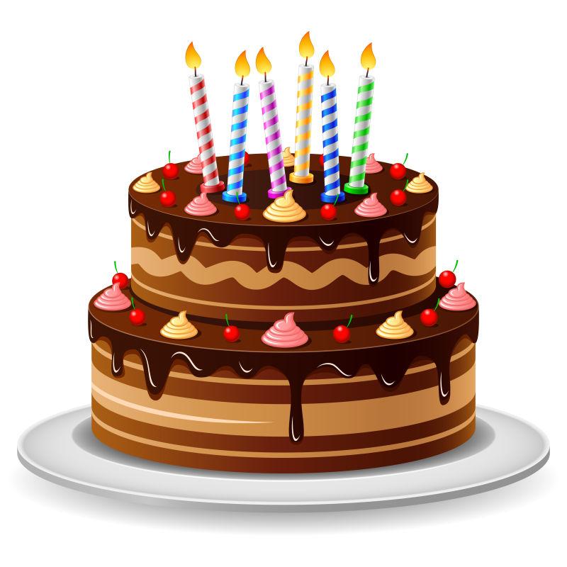 2周年生日蛋糕_矢量生日蛋糕贺卡图片-矢量多层生日蛋糕卡通贺卡设计素材-高清 ...