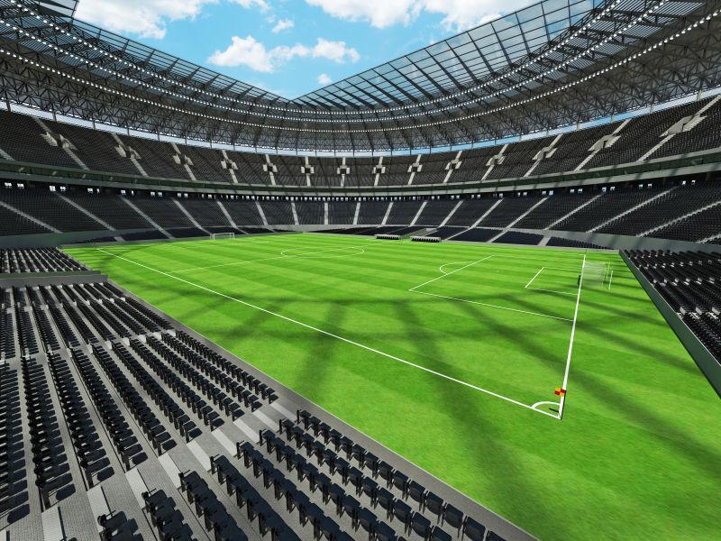 3D圆形足球场美丽的渲染