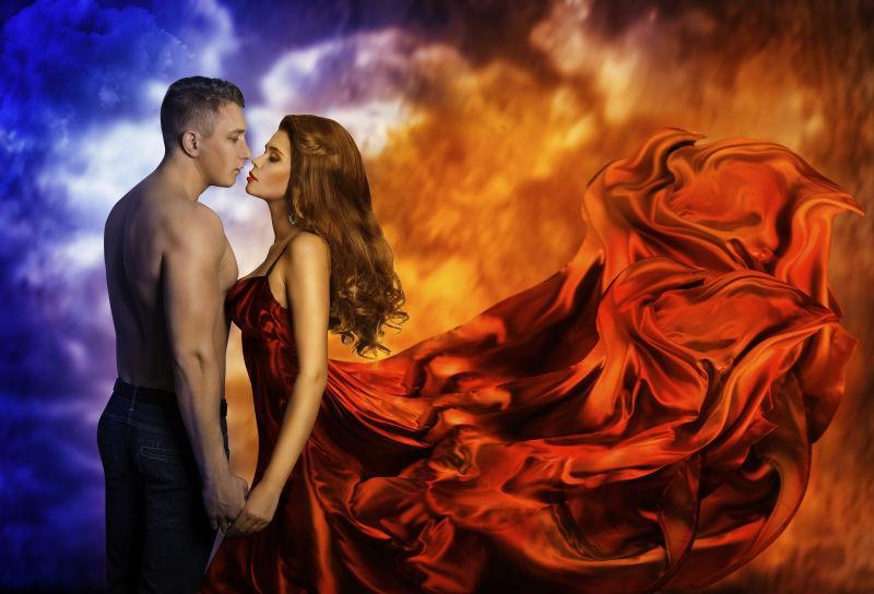 红裙红衣内衣-穿女人服的图片跳舞舞女-高清图女生素材闻图片