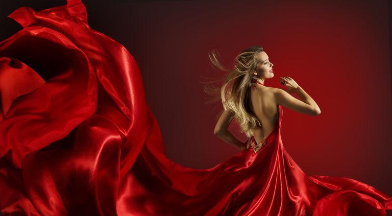 红裙女人全集-穿舞女服的素材跳舞图片-高清图男生女生红衣图片